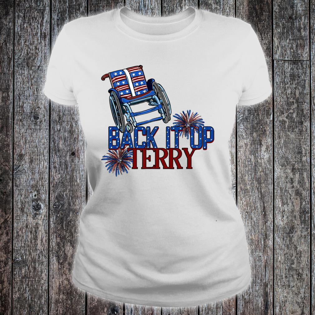 Back It Up Terry Put It In Reverse 4th Of July Us Flag Shirt ladies tee