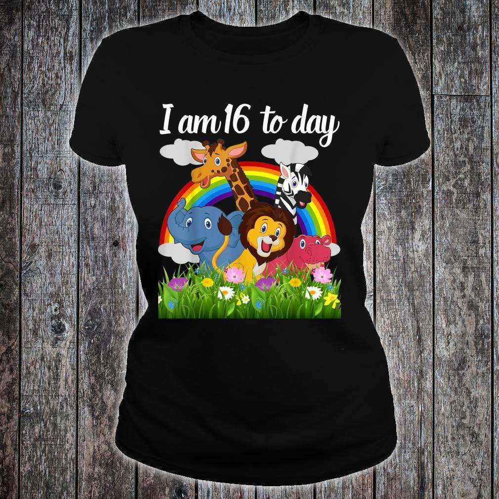 Cute Zoo Safari Jungle 16th Birthday Theme Boy,girls, Shirt ladies tee