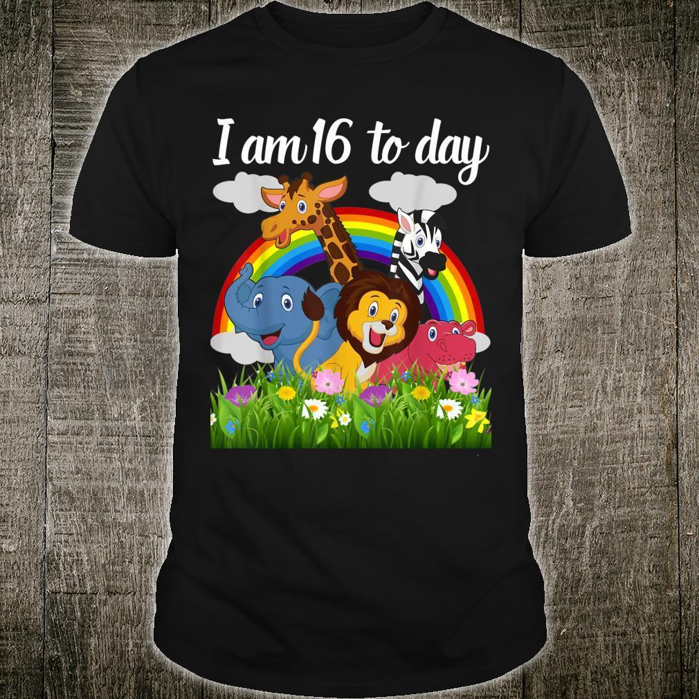 Cute Zoo Safari Jungle 16th Birthday Theme Boy,girls, Shirt