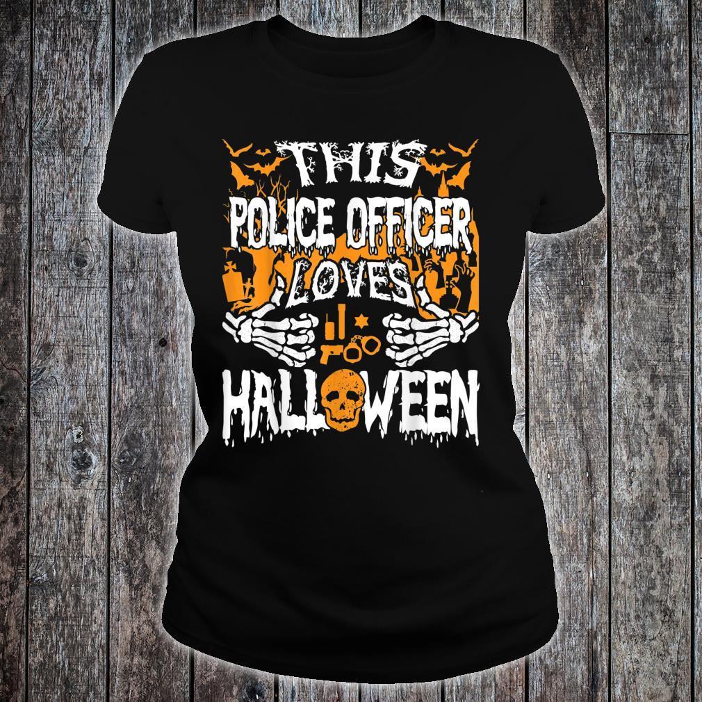 Dieser Polizist liebt Halloween Deputy Polizist Shirt ladies tee