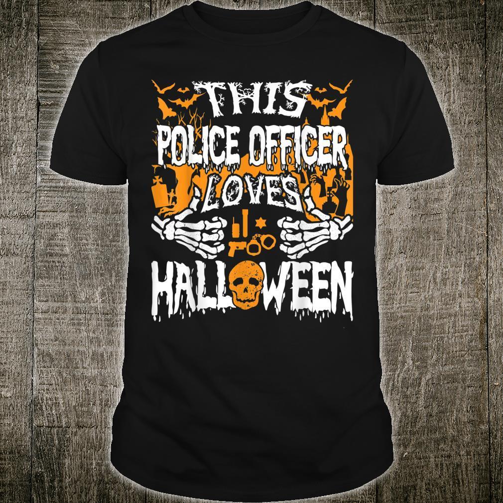 Dieser Polizist liebt Halloween Deputy Polizist Shirt