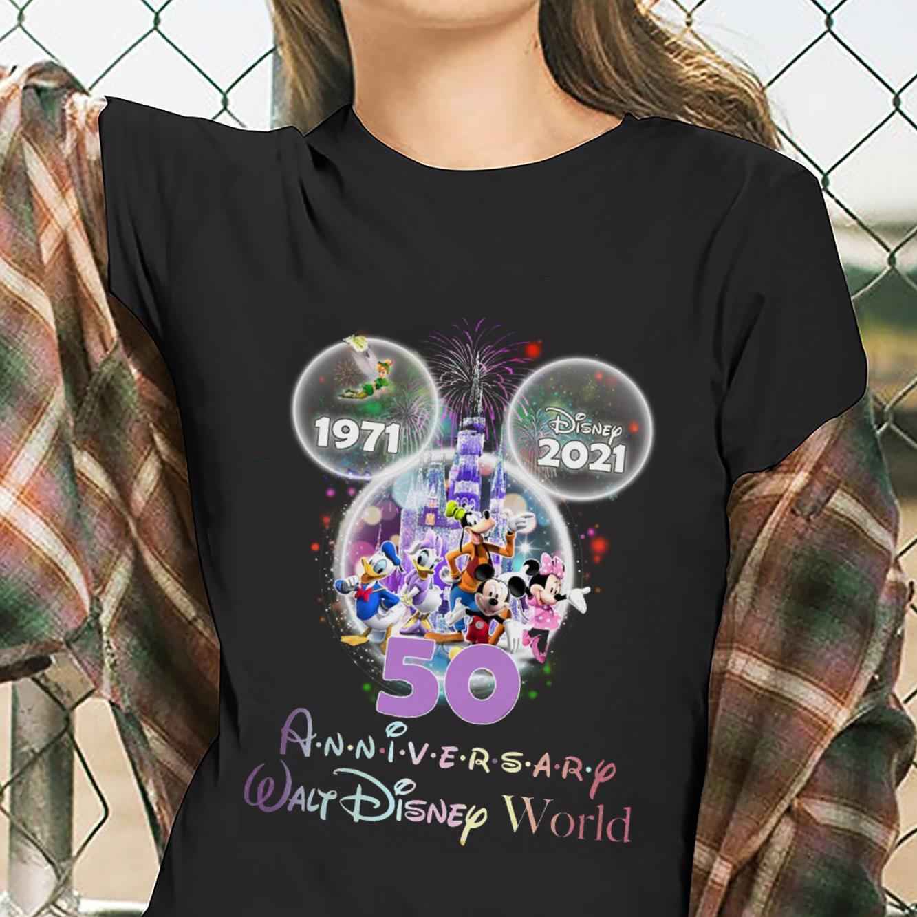 Disney 1971 2021 Anniversary Walt Disney World Shirt ladies tee