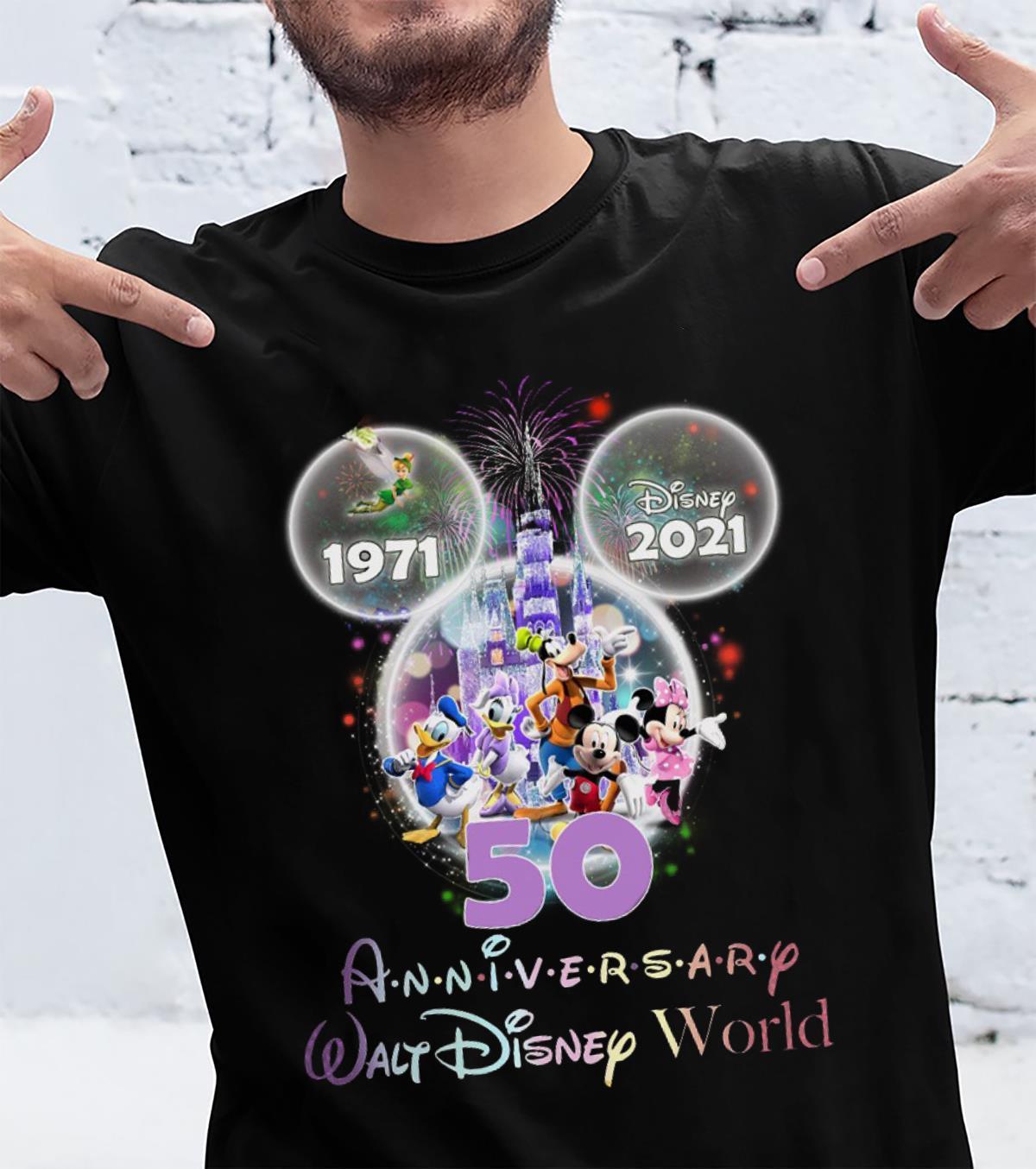 Disney 1971 2021 Anniversary Walt Disney World Shirt