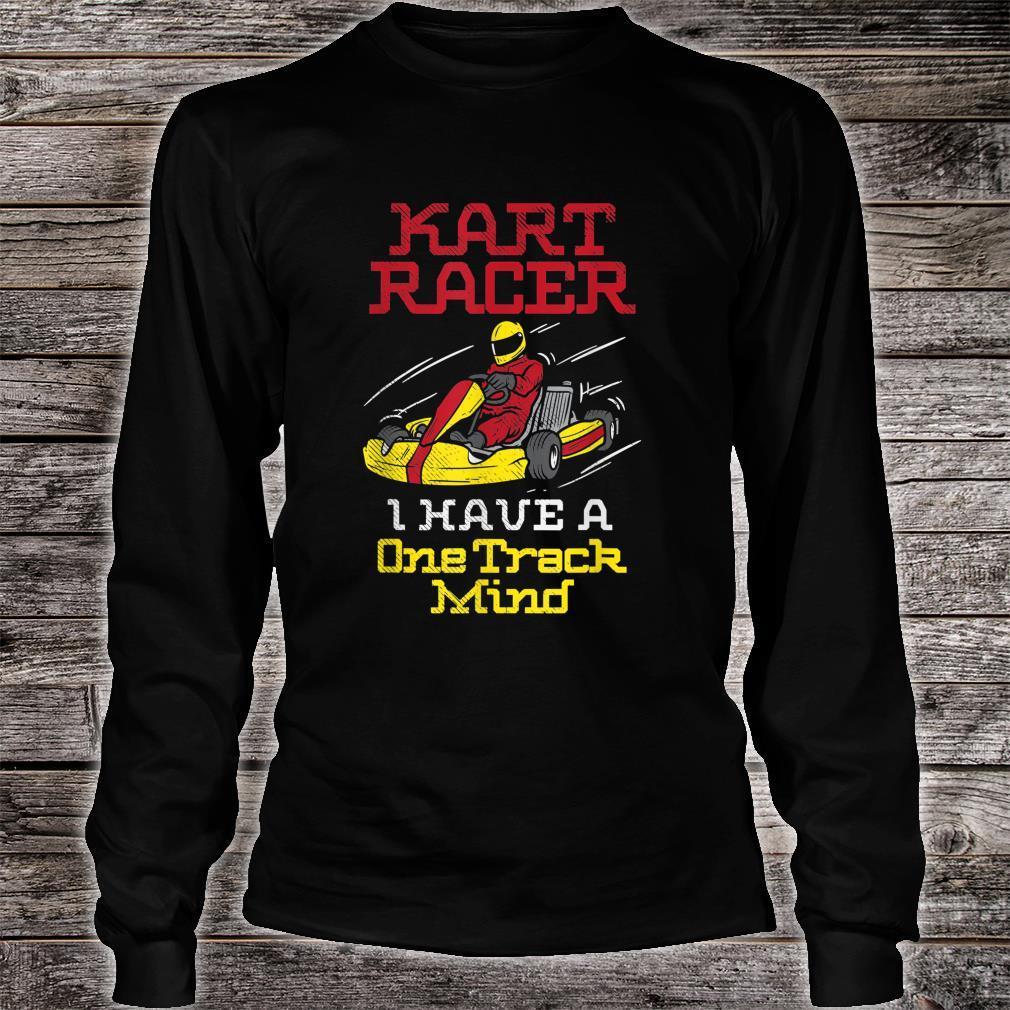 Ein Track Mind Go Kart Racing Kart Racer Karting Shirt long sleeved