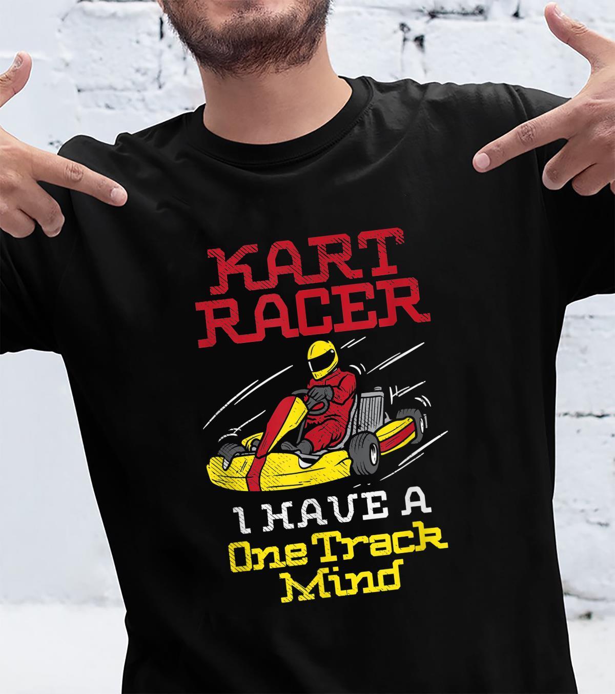 Ein Track Mind Go Kart Racing Kart Racer Karting Shirt
