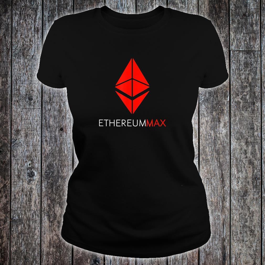 Ethereummax token crypto Ethereum max Emax Cryptocurrency Shirt ladies tee