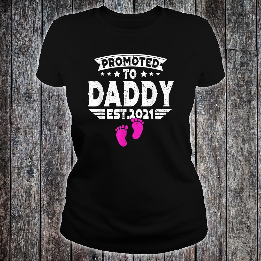 Fathers Day Promoted To Daddy Shirt 2021 First Time New Dad Shirt ladies tee
