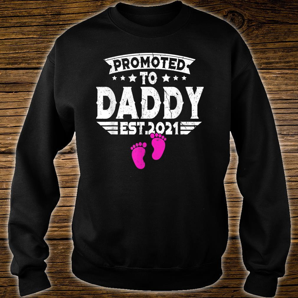 Fathers Day Promoted To Daddy Shirt 2021 First Time New Dad Shirt sweater