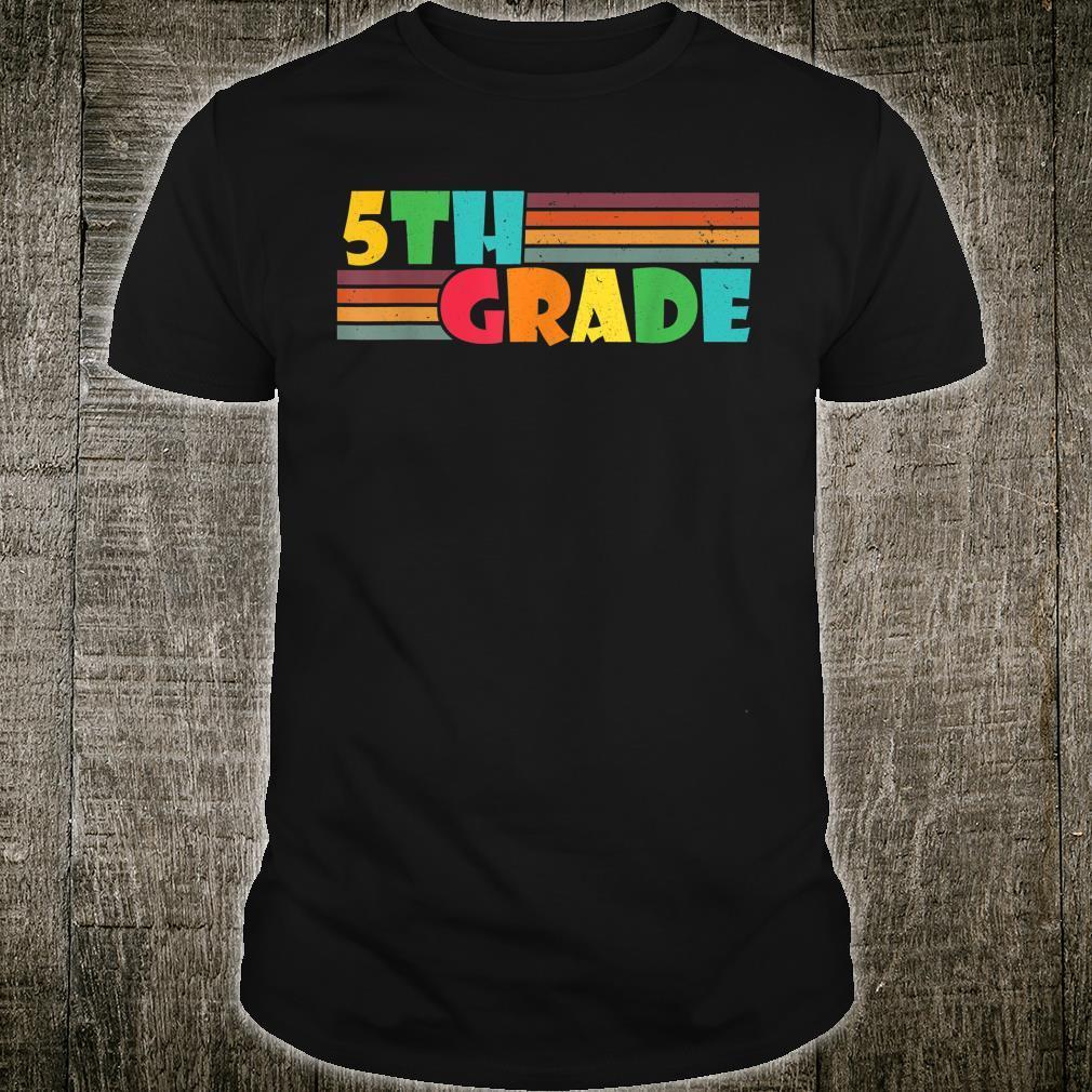 Fifth Grade Teacher Back To School Supplies Teacher Shirt