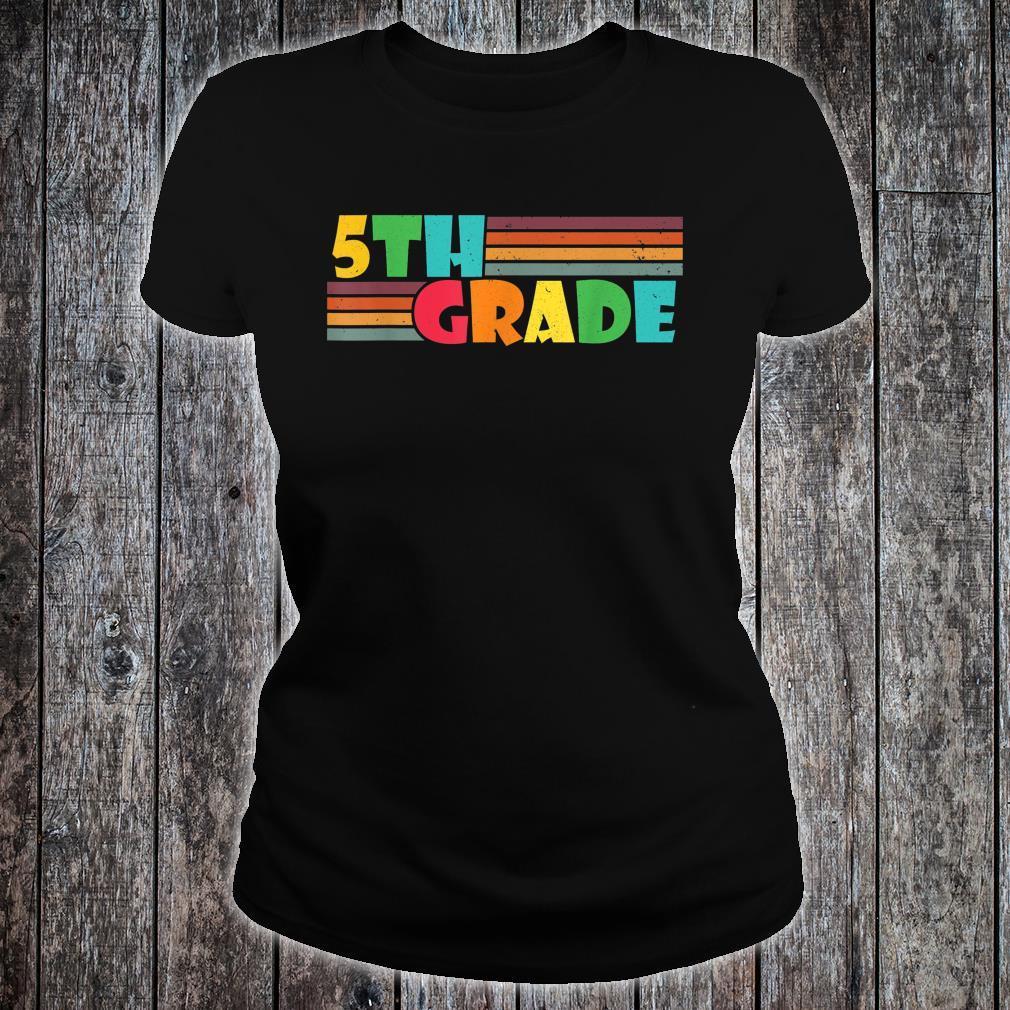 Fifth Grade Teacher Back To School Supplies Teacher Shirt ladies tee