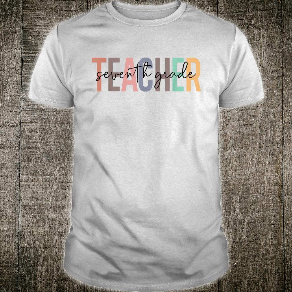 First Day Back To School 7th Grade Teacher For Teacher Shirt