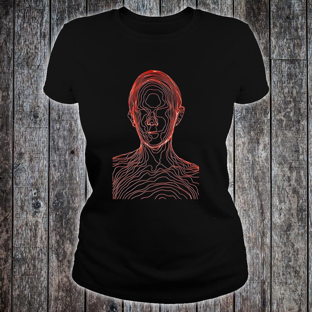 Fragmented Heads Of Man Shirt ladies tee