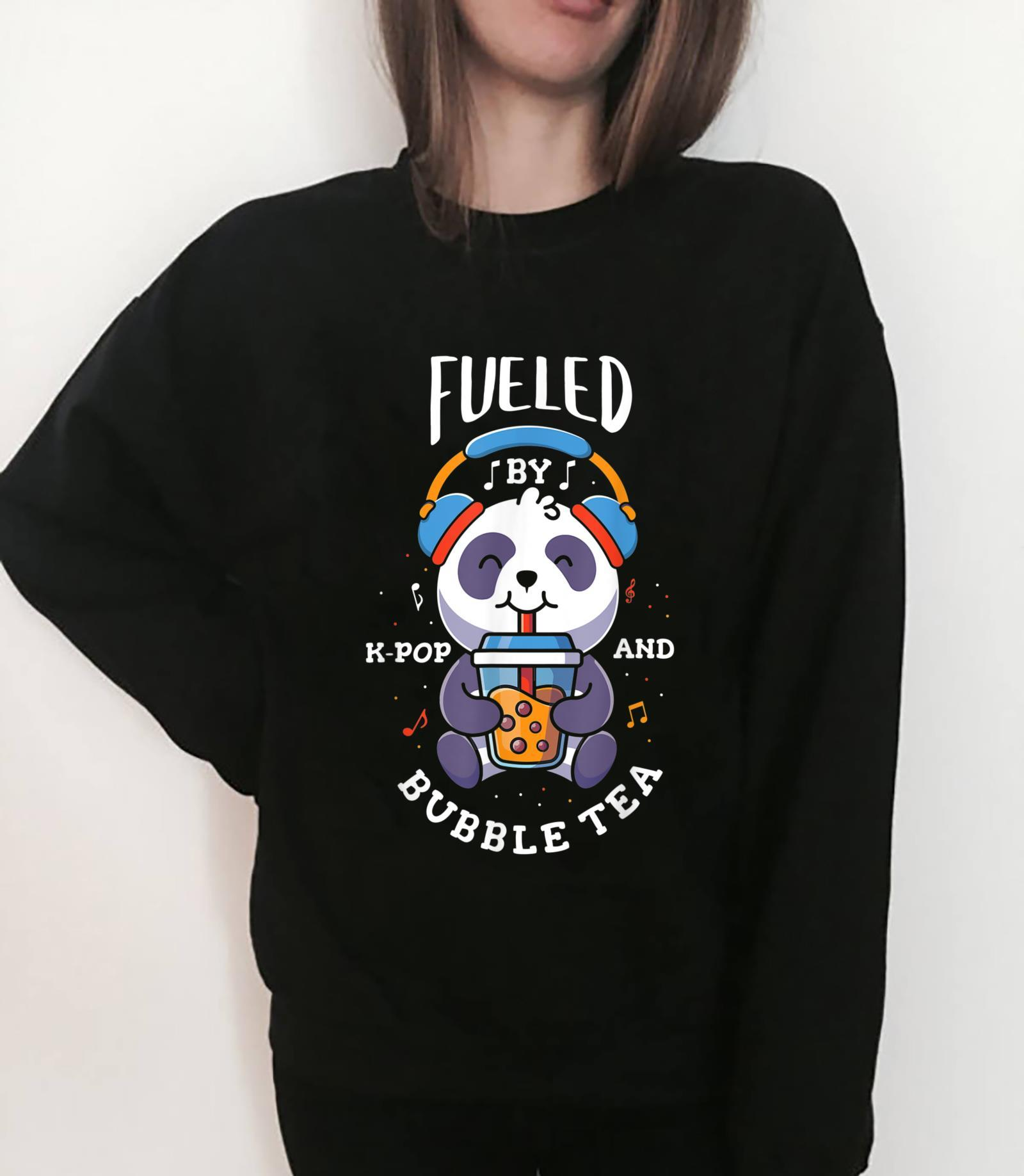 Fueled by kpop and bubble tea Design for a KPop Fan Shirt sweater
