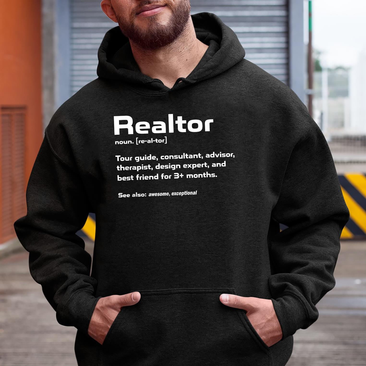 Funny Definition The Realtor For Real Estate Agent Shirt hoodie