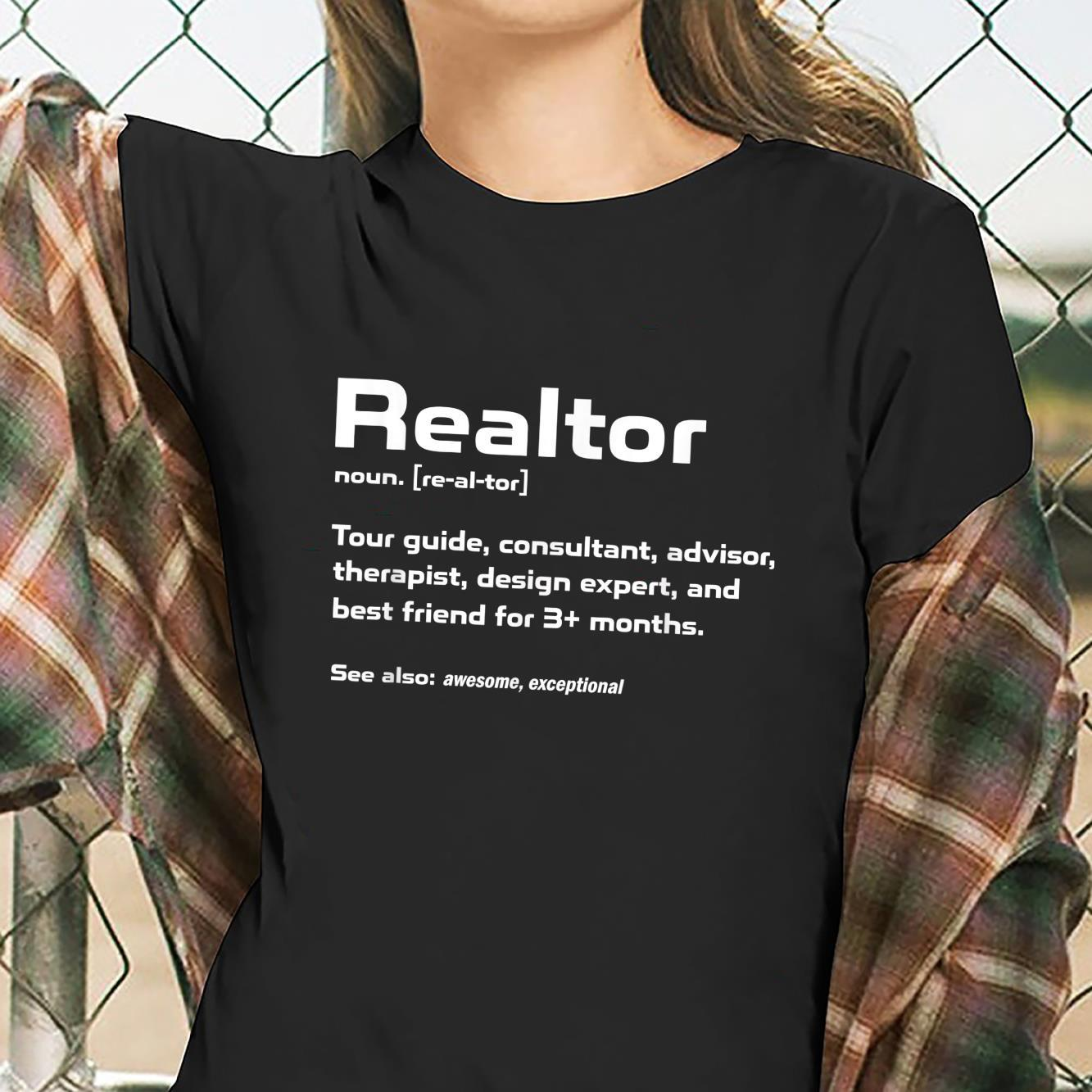 Funny Definition The Realtor For Real Estate Agent Shirt ladies tee