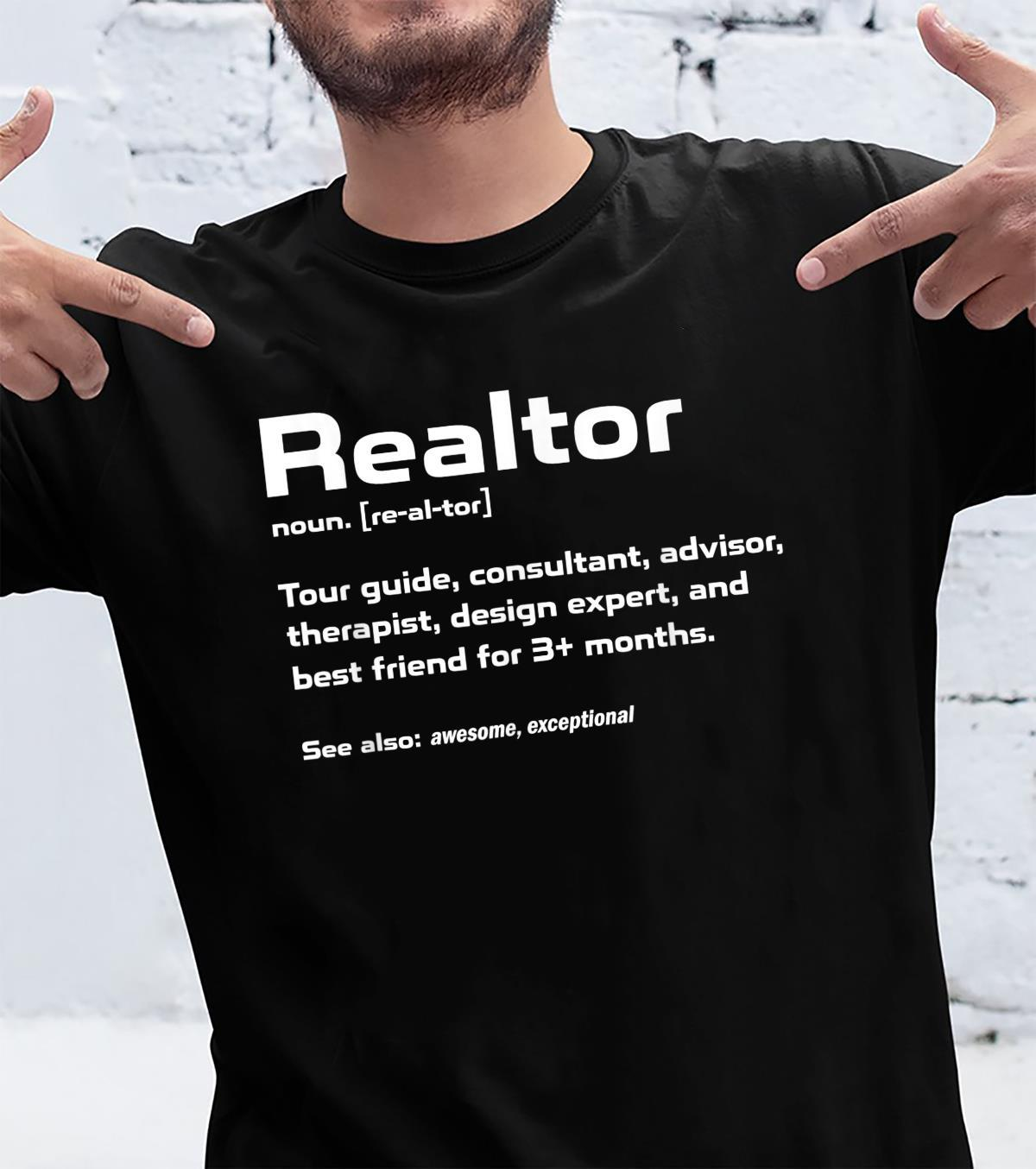 Funny Definition The Realtor For Real Estate Agent Shirt