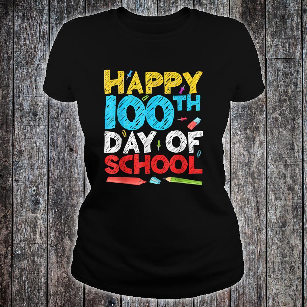 Happy 100th Day Of School Shirt ladies tee