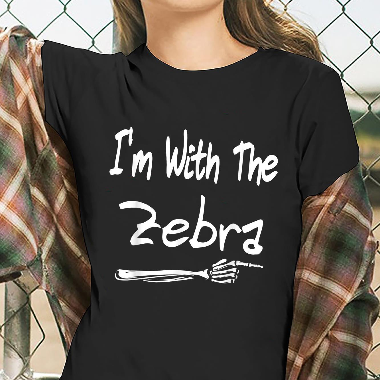 I'm With The Zebra Halloween Costume Adult For Couples Shirt ladies tee