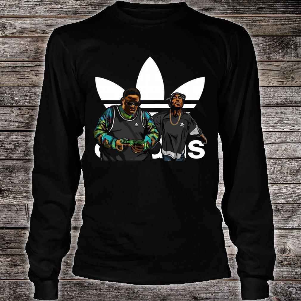 Nnotorious B.I.G Tupac Shakur adidas shirt long sleeved
