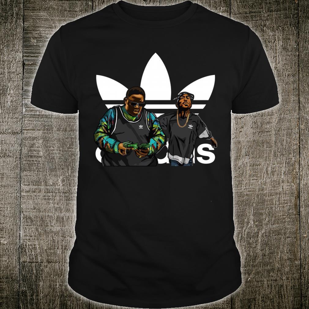 Nnotorious B.I.G Tupac Shakur adidas shirt