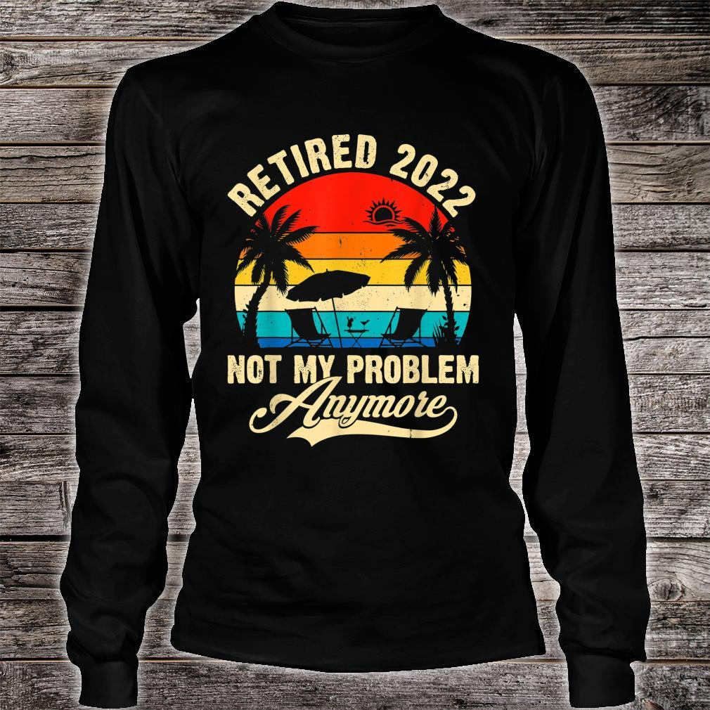 Retro Retired 2022 Vintage Fathers Day For Mom Dad Shirt long sleeved