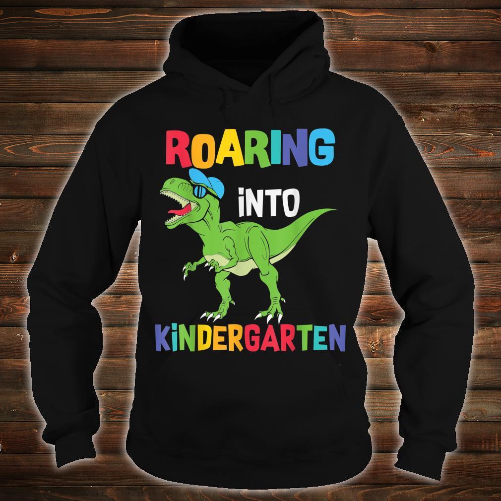 Roaring Kindergarten Dinosaur T Rex Back to School Boys Shirt hoodie