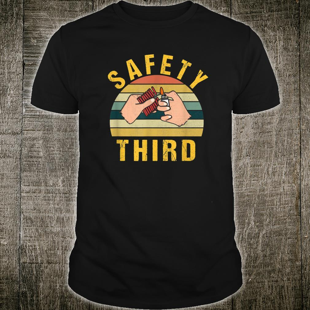 Safety Third Warning Fireworks Firecrackers 4th Of July Shirt