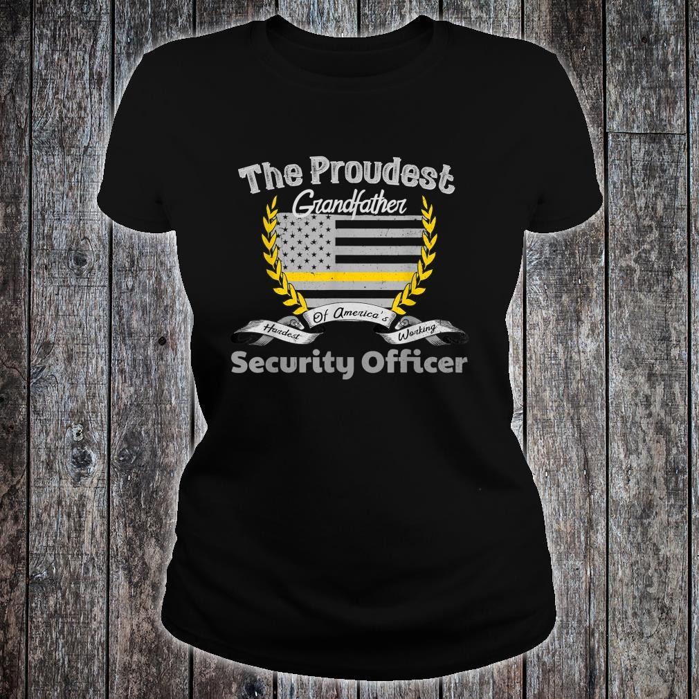 Security Officer Proud Grandfather Thin Yellow Line Shirt ladies tee