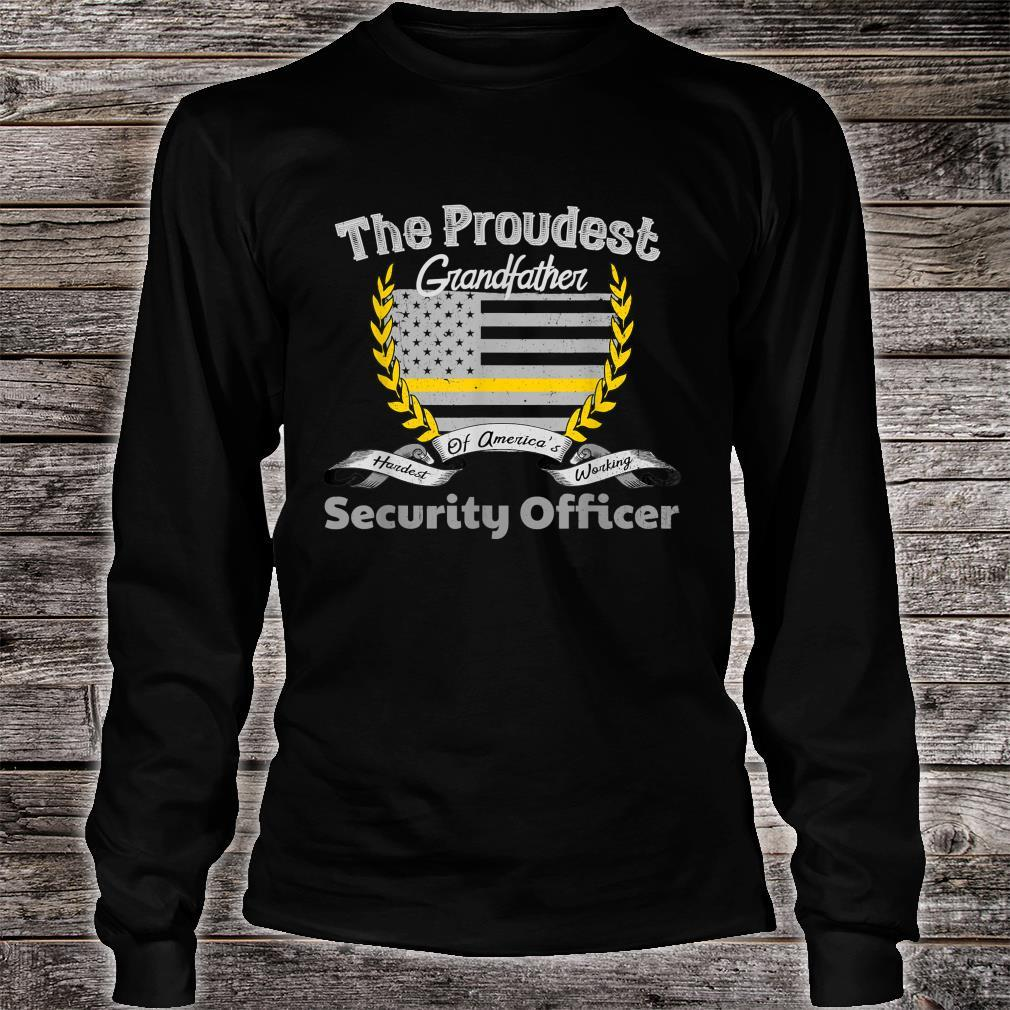 Security Officer Proud Grandfather Thin Yellow Line Shirt long sleeved