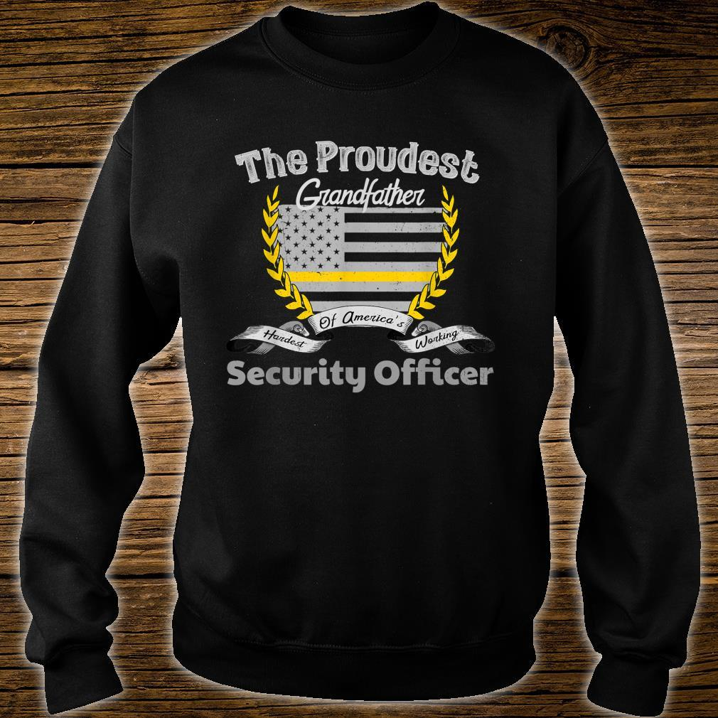 Security Officer Proud Grandfather Thin Yellow Line Shirt sweater