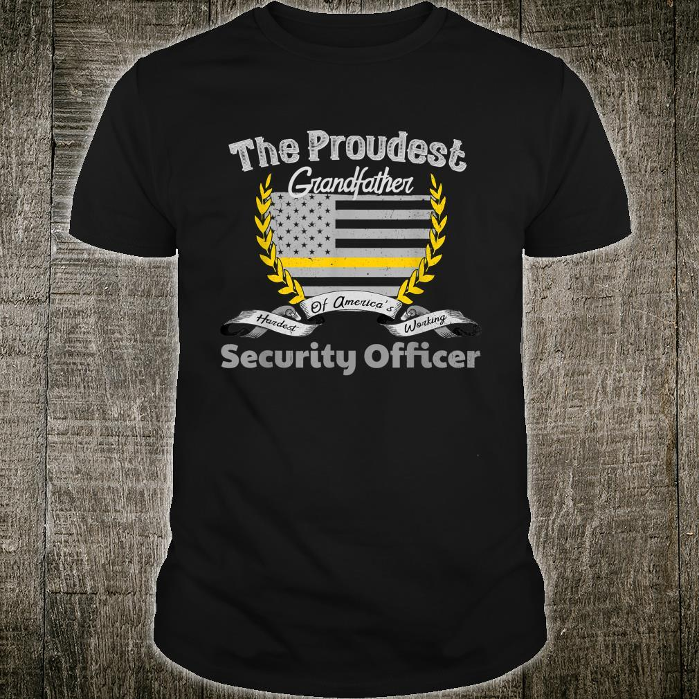 Security Officer Proud Grandfather Thin Yellow Line Shirt