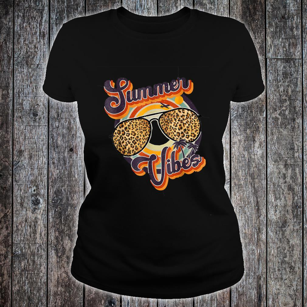 Summer Vibes, Summer Leopard Glasses Shirt ladies tee