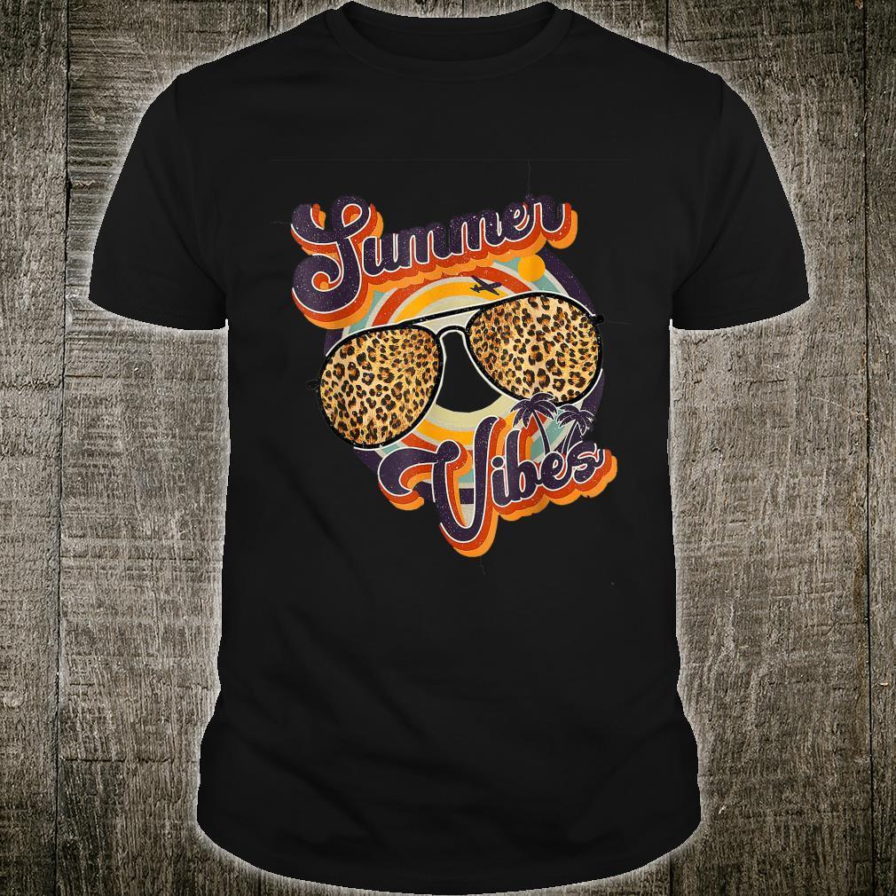 Summer Vibes, Summer Leopard Glasses Shirt