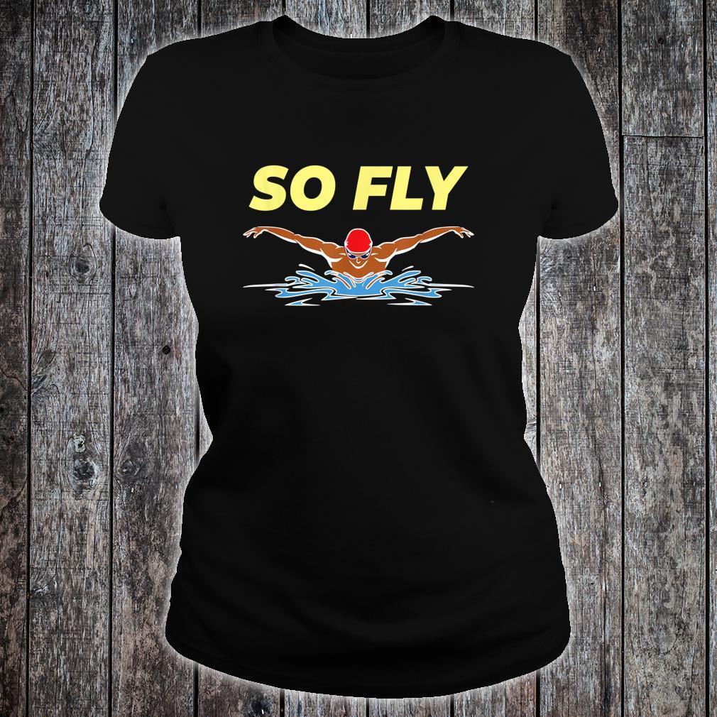 Swimming Butterfly Stroke's Swim Team Coach Swimmer Shirt ladies tee