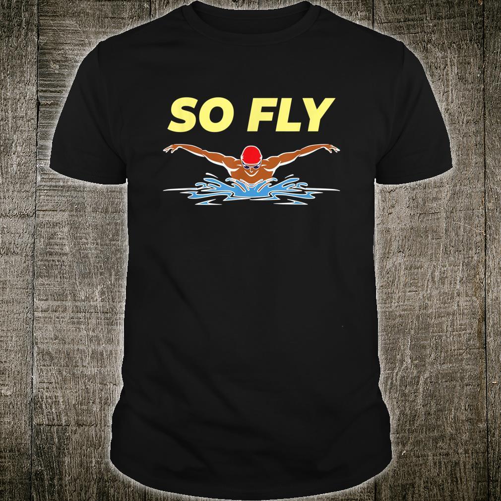 Swimming Butterfly Stroke's Swim Team Coach Swimmer Shirt