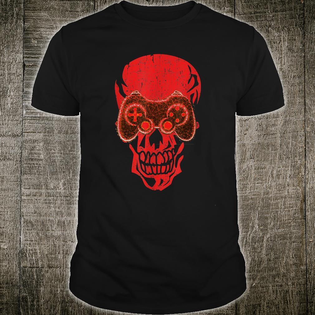 Video Game Skull Gamer Skeleton Halloween Costume Shirt
