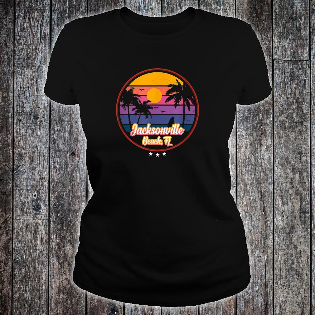 Vintage Jacksonville Beach Souvenir Florida Shirt ladies tee