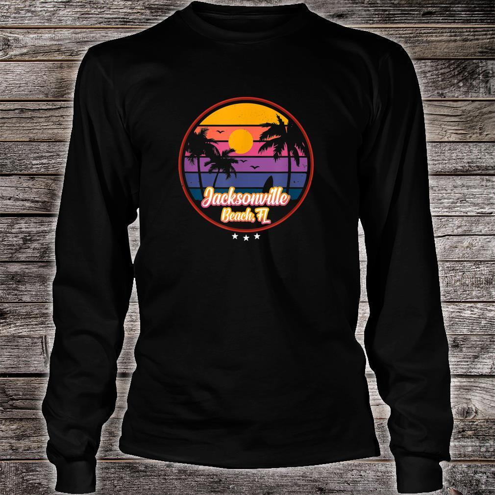 Vintage Jacksonville Beach Souvenir Florida Shirt long sleeved
