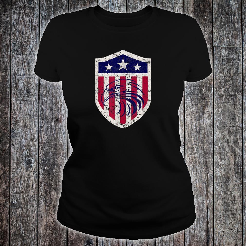 Vintage Vereinigte Staaten Adler Schild Shirt ladies tee