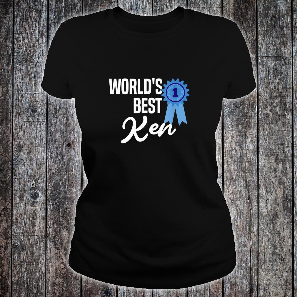 World's Best Ken Name Personalized Shirt ladies tee