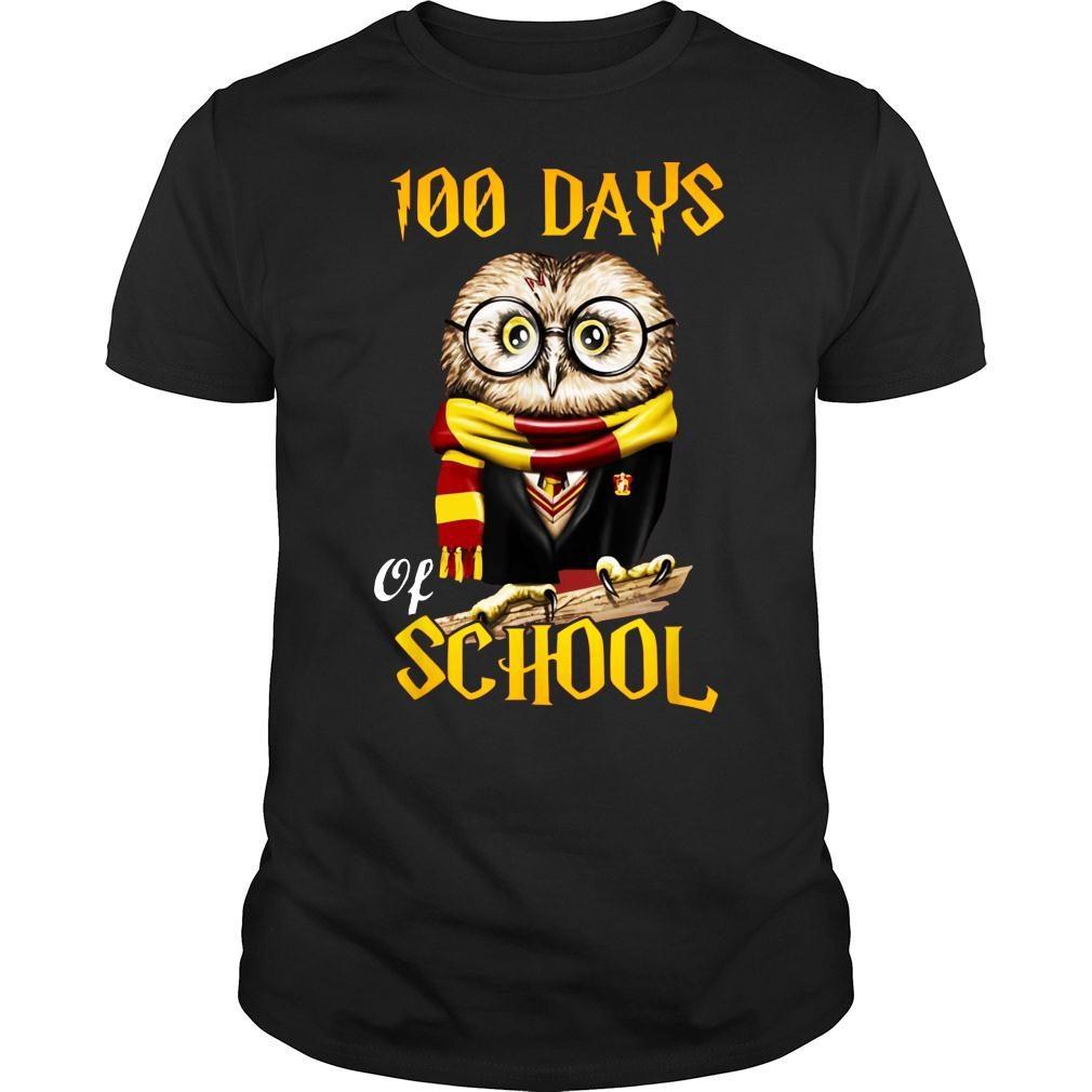 100 Days Owl of school Gryffindor Magic Wizard shirt