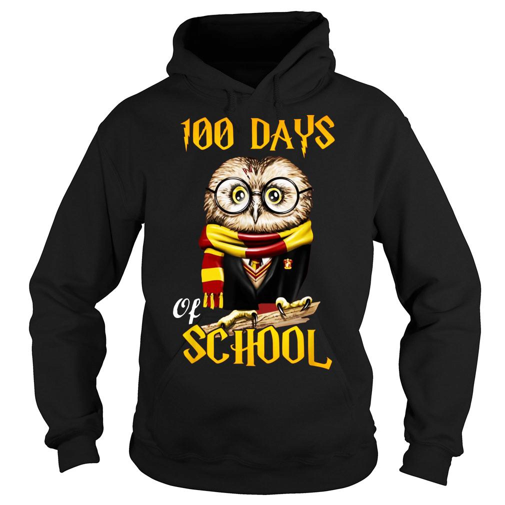 100 Days Owl of school Gryffindor Magic Wizard shirt hoodie