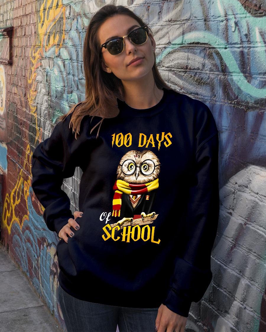 100 Days Owl of school Gryffindor Magic Wizard shirt sweater official
