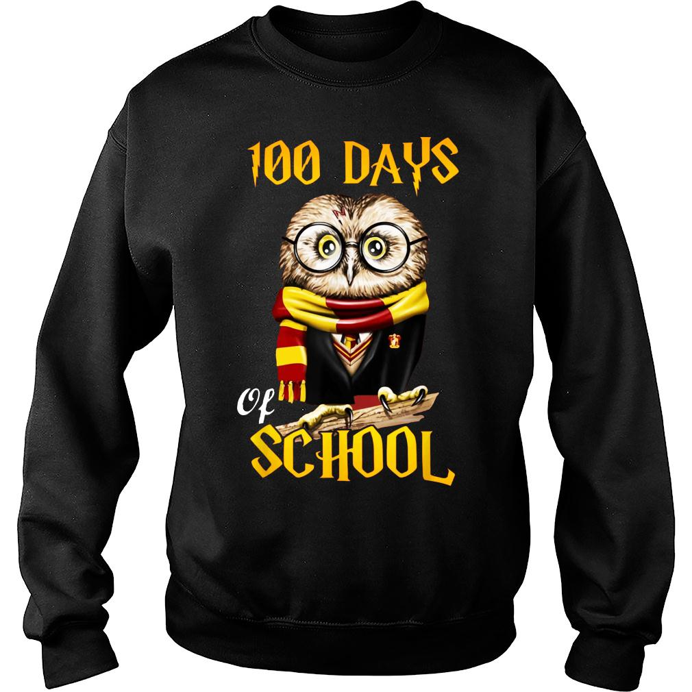 100 Days Owl of school Gryffindor Magic Wizard shirt sweater