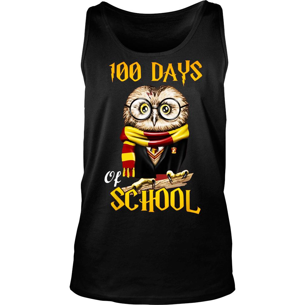 100 Days Owl of school Gryffindor Magic Wizard shirt tank top
