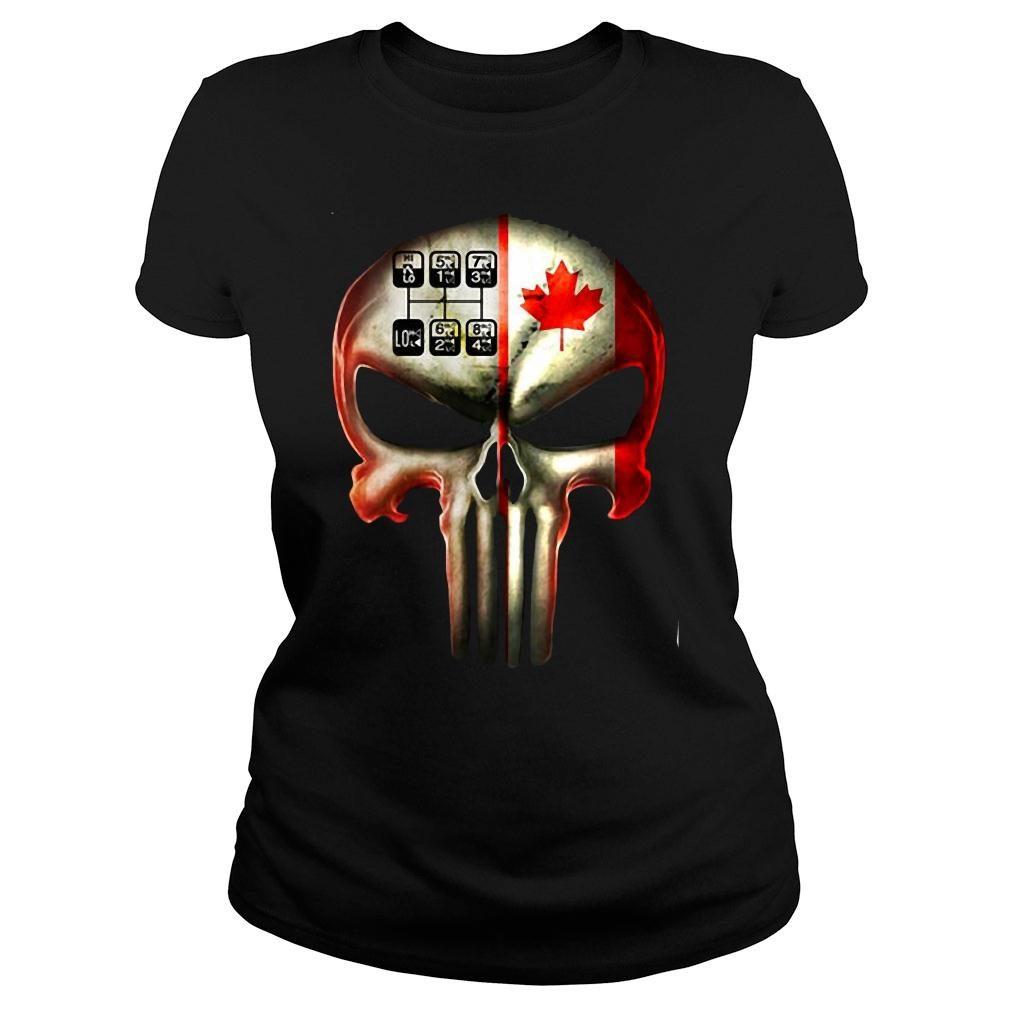 18 speed skull shirt ladies tee