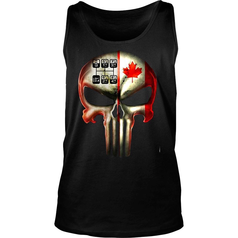18 speed skull shirt tank top