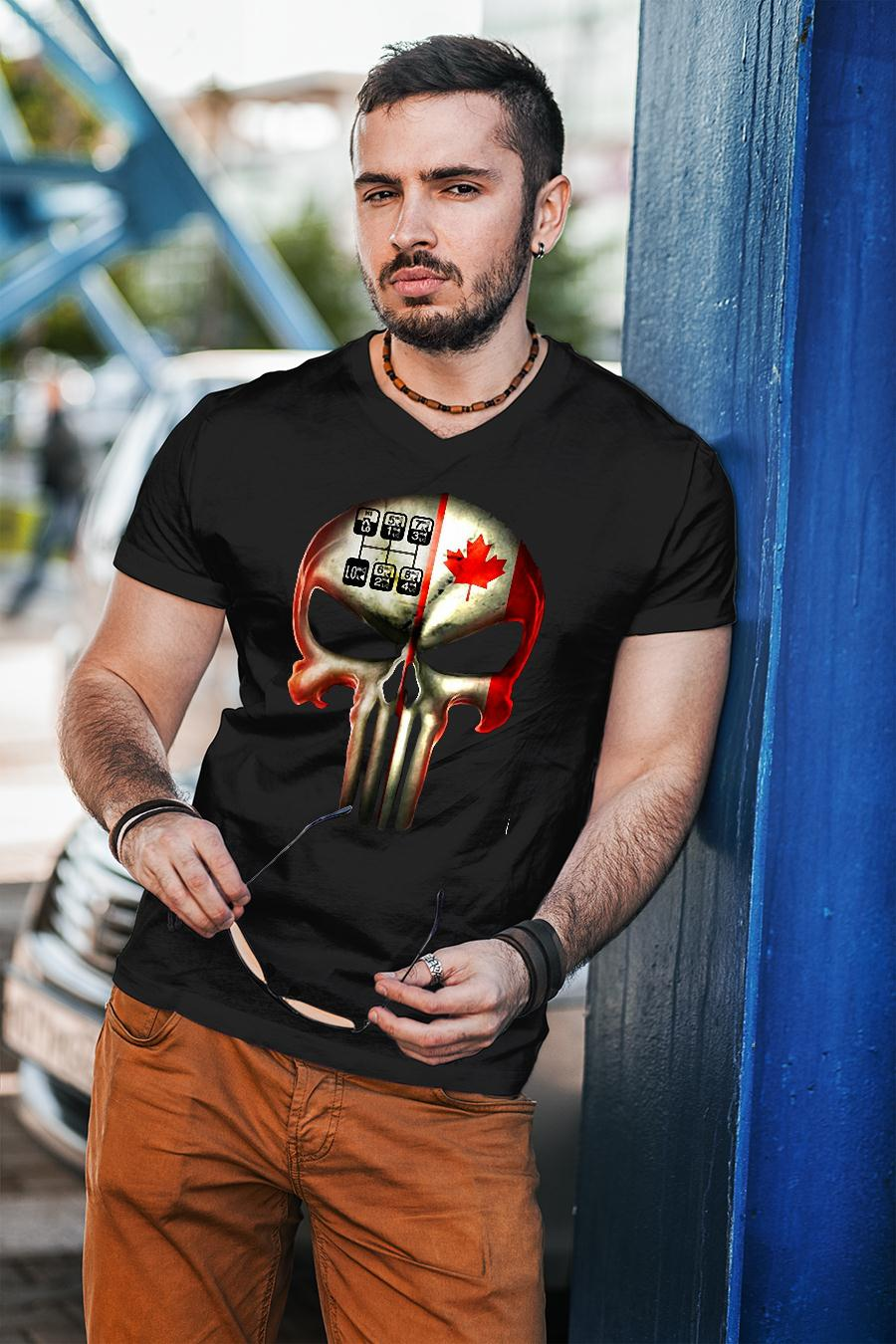 18 speed skull shirt unisex