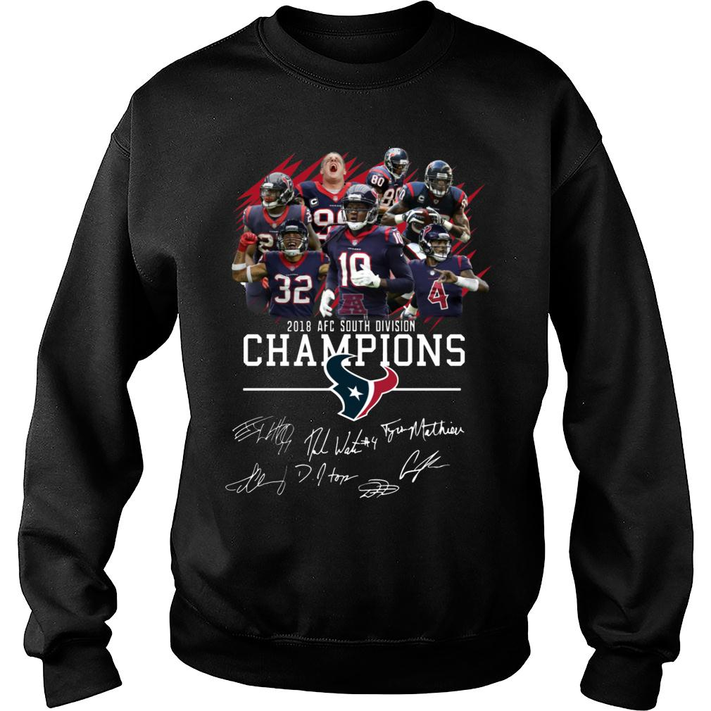 2018 AFC South Division Champions Houston Texans With Signature shirt sweater