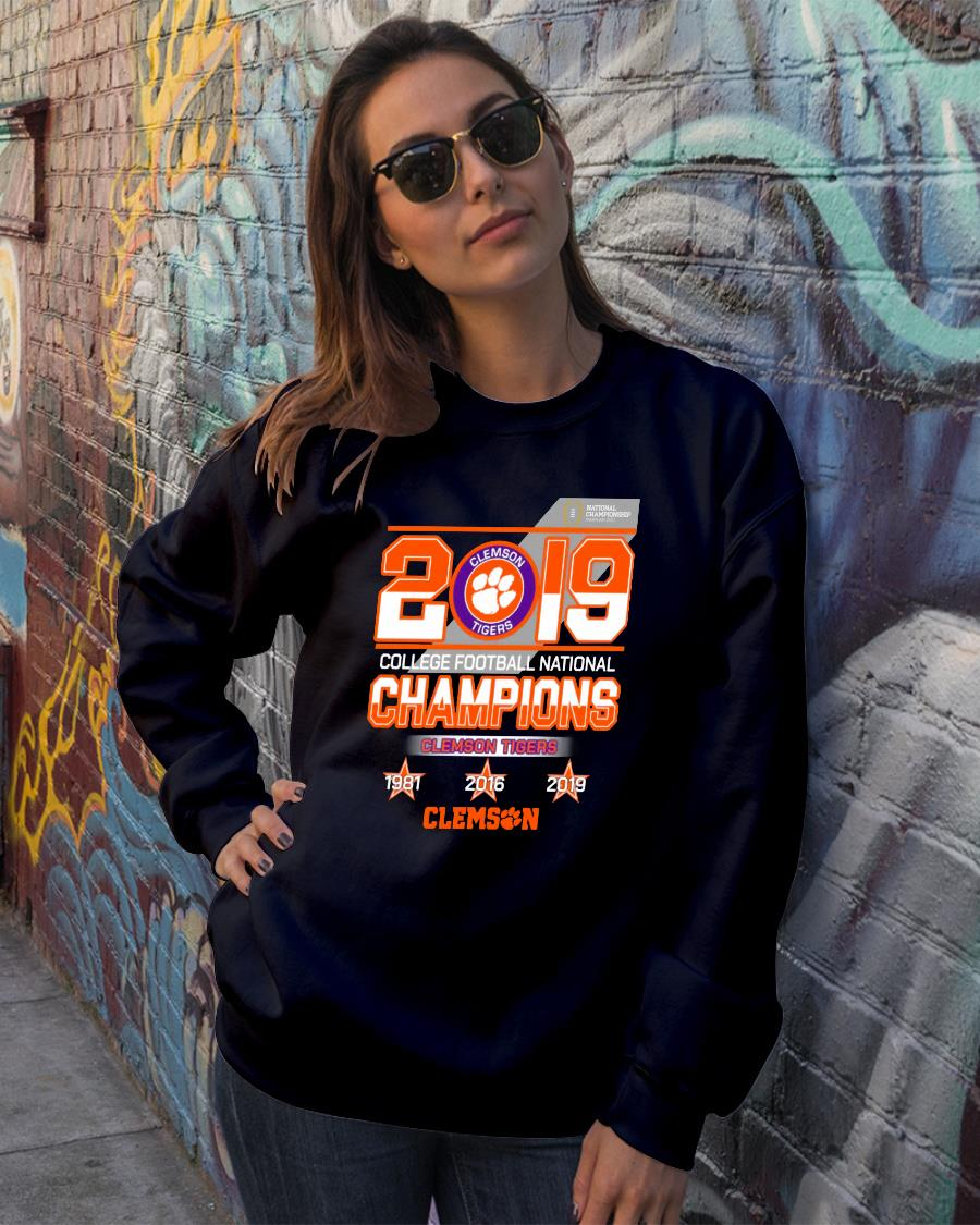 2019 Clemson tigers college football national champions shirt sweater official